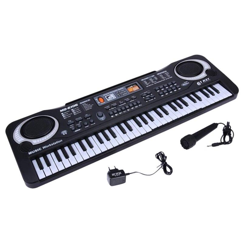 Dropship-MQ 61 Keys Digital Music Electronic Keyboard Key Board Electric Piano Children Gift Eu Plug