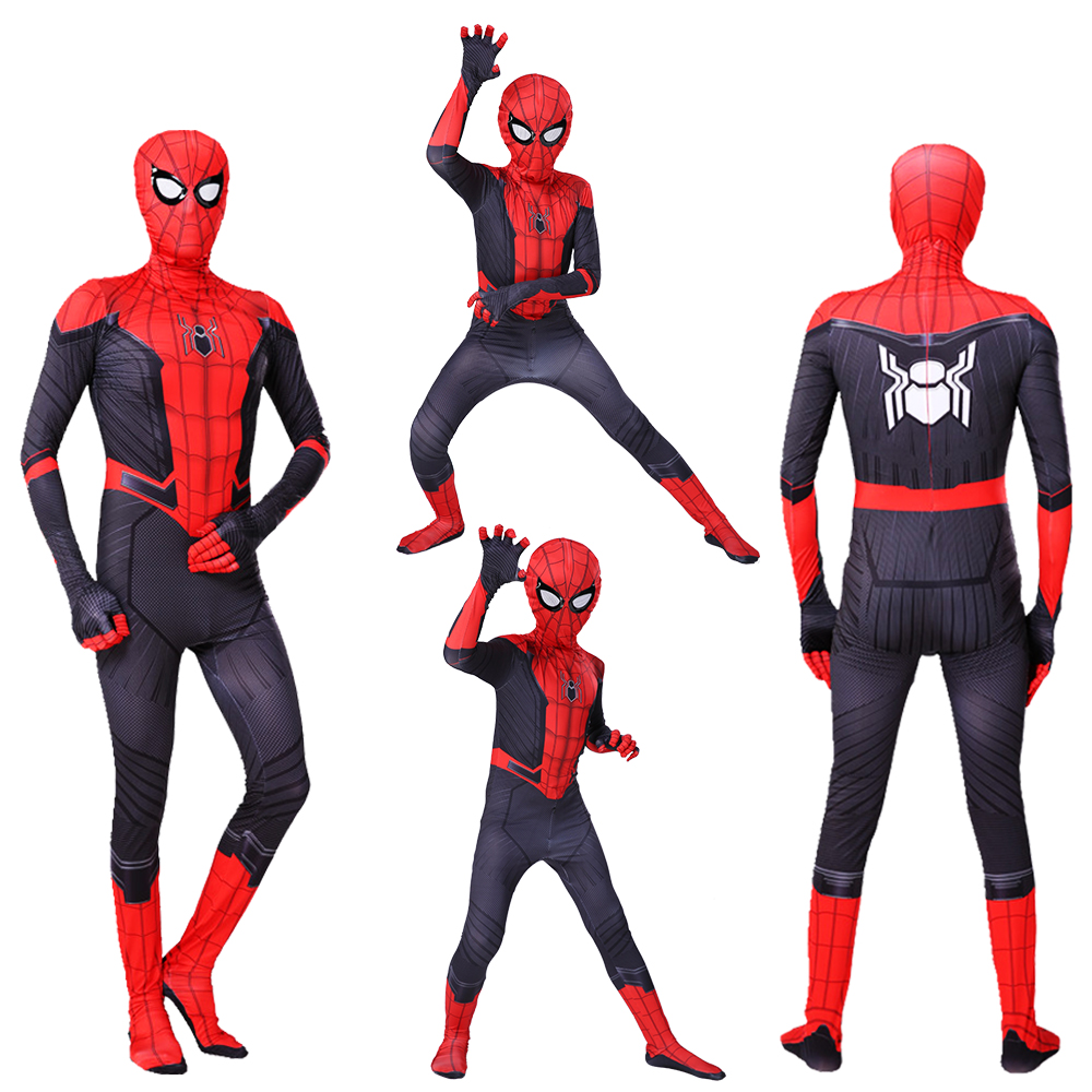 Kids Adult Spiderman Costumes Far From Home Spider Peter Parker Gwen Spider-man Superhero Cosplay Costume Zentai Bodysuit Suit