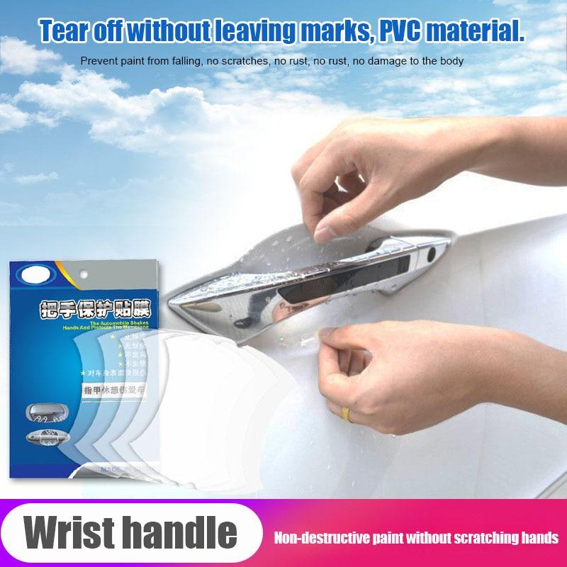 2019 NEW 5pcs Car Door Handle Transparent Protective Film Door Handle Paint Protectors Scratch Film Guard NR-shipping
