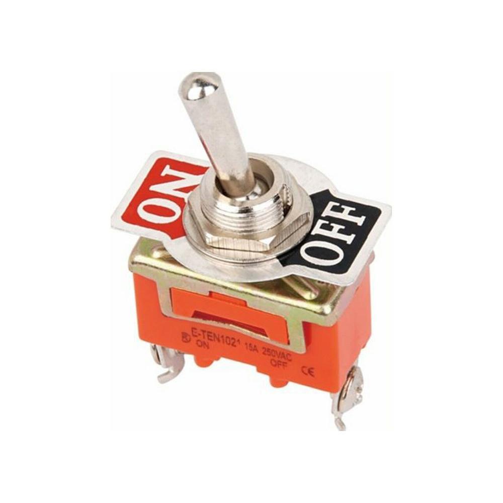 Free Shipping 1pcs Good Quality E-TEN1021 2-Pin SPST 2 Terminal ON-OFF 15A 250V Toggle Switch orange