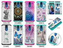 3D Glitter Diamond Phone Cases For LG K40 K12 Plus PC Silicone Hybrid Case for Google Pixel 3a XL Bling Shockproof Back Cover