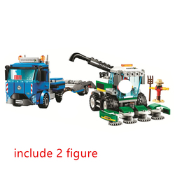 City Great Vehicles Harvester Transport Building Blocks Kit Classic Model Kids Toys For Children Gift