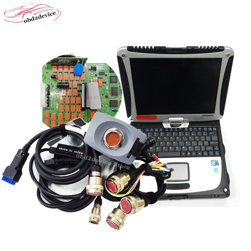 MB gwiazda C3 ze specjalistami, obrazami diagnostycznymi z oprogramowaniem V03/2020 w laptopie CF19/D630/T420 i5 PC SD Connect MB C3 samochodów ciężarowych diagnostyczne gotowy do użycia