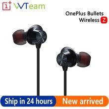Беспроводные наушники Oneplus Bullets Z с Bluetooth, оригинальная гарнитура с динамическим магнитным управлением для Oneplus 8 Pro
