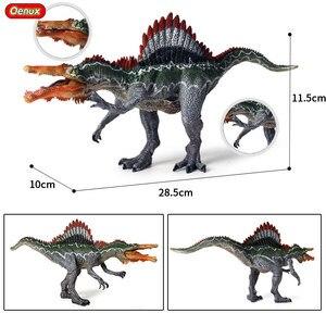 Image 2 - Oenux מקורי פרהיסטורי עולם דינוזאור טירנוזאורוס Therizinosaurus ספינוזאור פעולה דמויות דינוזאורים היורה דגם צעצועים