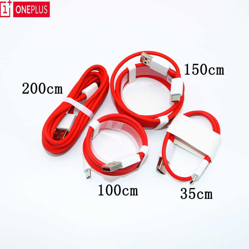 Oneplus original 6 traço cabo 5t 5 3t 3 35/100/200cm usb 3.1 tipo c rápido carregador cabo para um mais três cinco t seis|Cabos flexíveis de celular|   -
