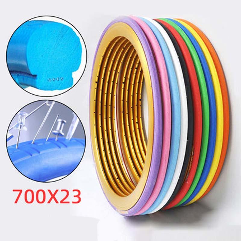 11 cores ciclismo sólido pneu morto 700c x 23c engrenagem fixa sólido inflação do pneu livre nunca pneus de bicicleta plana para pneus de bicicleta de estrada