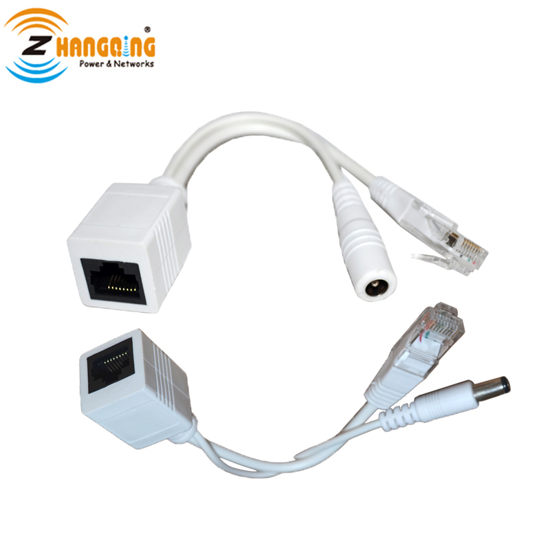 3 Pairs A Lot POE Cable Power Over Ethernet 100Mbps Passive 12V PoE Injector Splitter Cable Kit In Transmission Cables