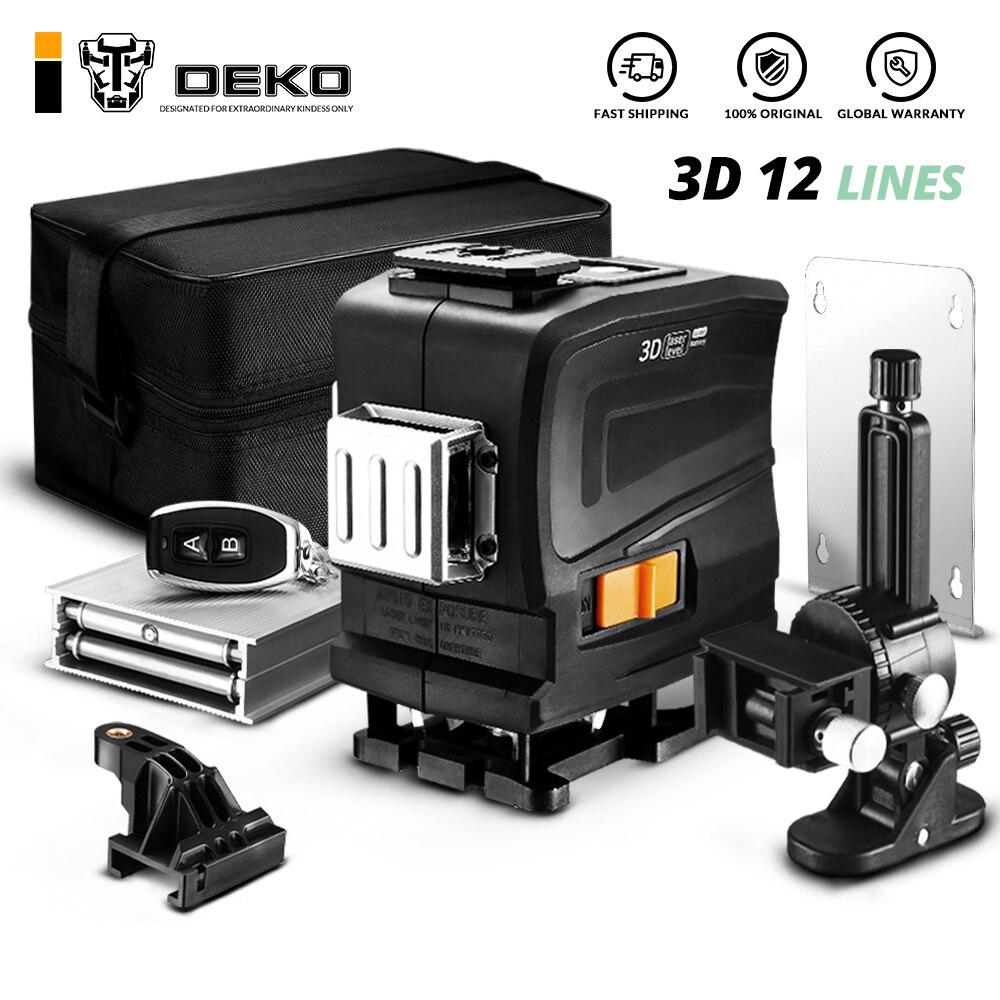 DEKO LL12 GTD 12 линий 3D зеленый свет Горизонтальные и вертикальные линии лазерный уровень с дистанционным управлением самонивелирующийся Высокоточный|Лазерные уровни|   | АлиЭкспресс
