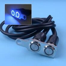 DWCX Universal 12V Waterproof Motorcycle Blue Head Light LED Handlebar Double ON OFF Switch Push Button