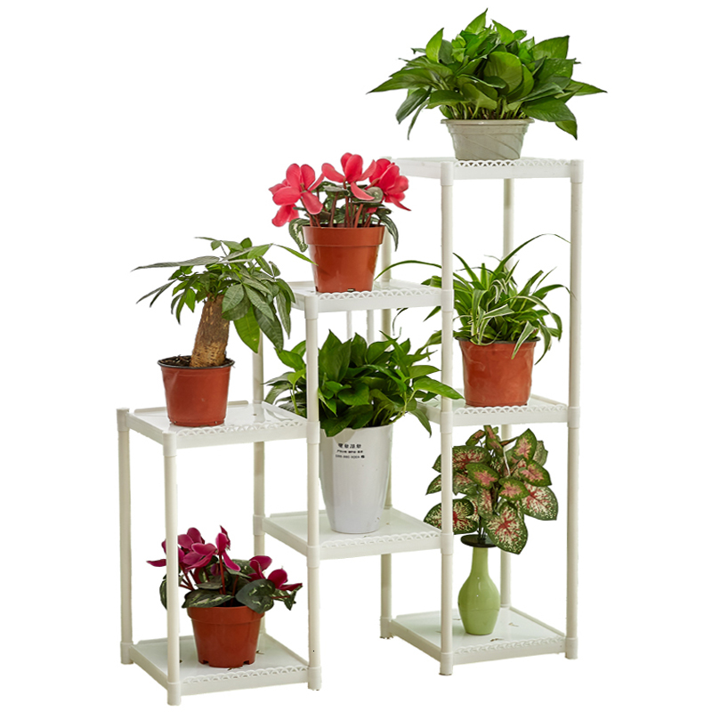 Airs Multi-storey Indoor A Living Room Balcony Landing Type Flowerpot Frame Green Radish Meat Flower Rack Shelf Simplicity