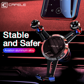cafele Car Phone Holder for Phone in Car Air Vent Clip Mount No Magnetic Mobile Phone Holder GPS Stand for iPhone Xiaomi image