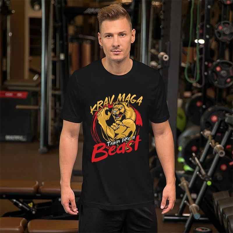 Vintage krav maga artes marciais combate militar tshirt masculino e feminino formal veludo lazer masculino t-shirts
