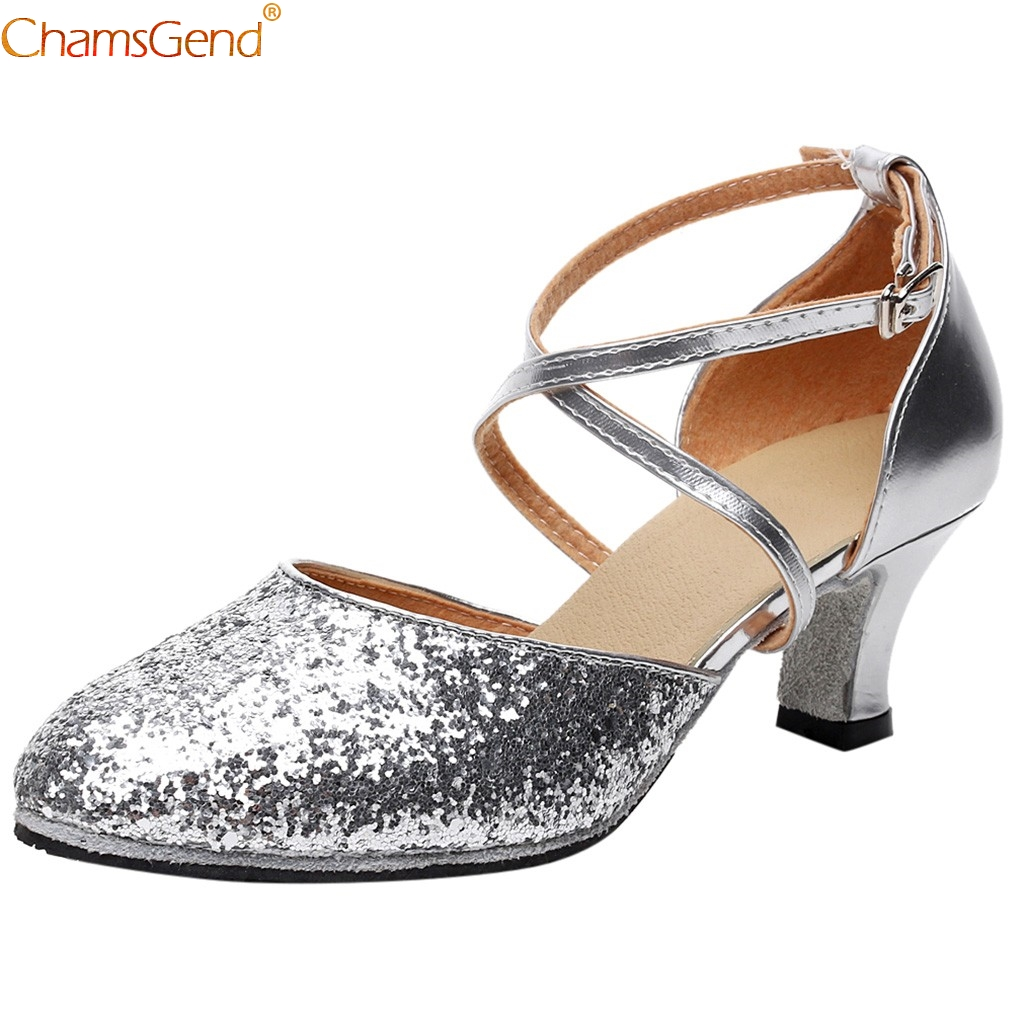 CHAMSGEND Dance Shoes Hot Sale Women's Girls Ballet Latin Dance Shoes For Girls Silver Gold Black Brown Color Wholesale 2020 New