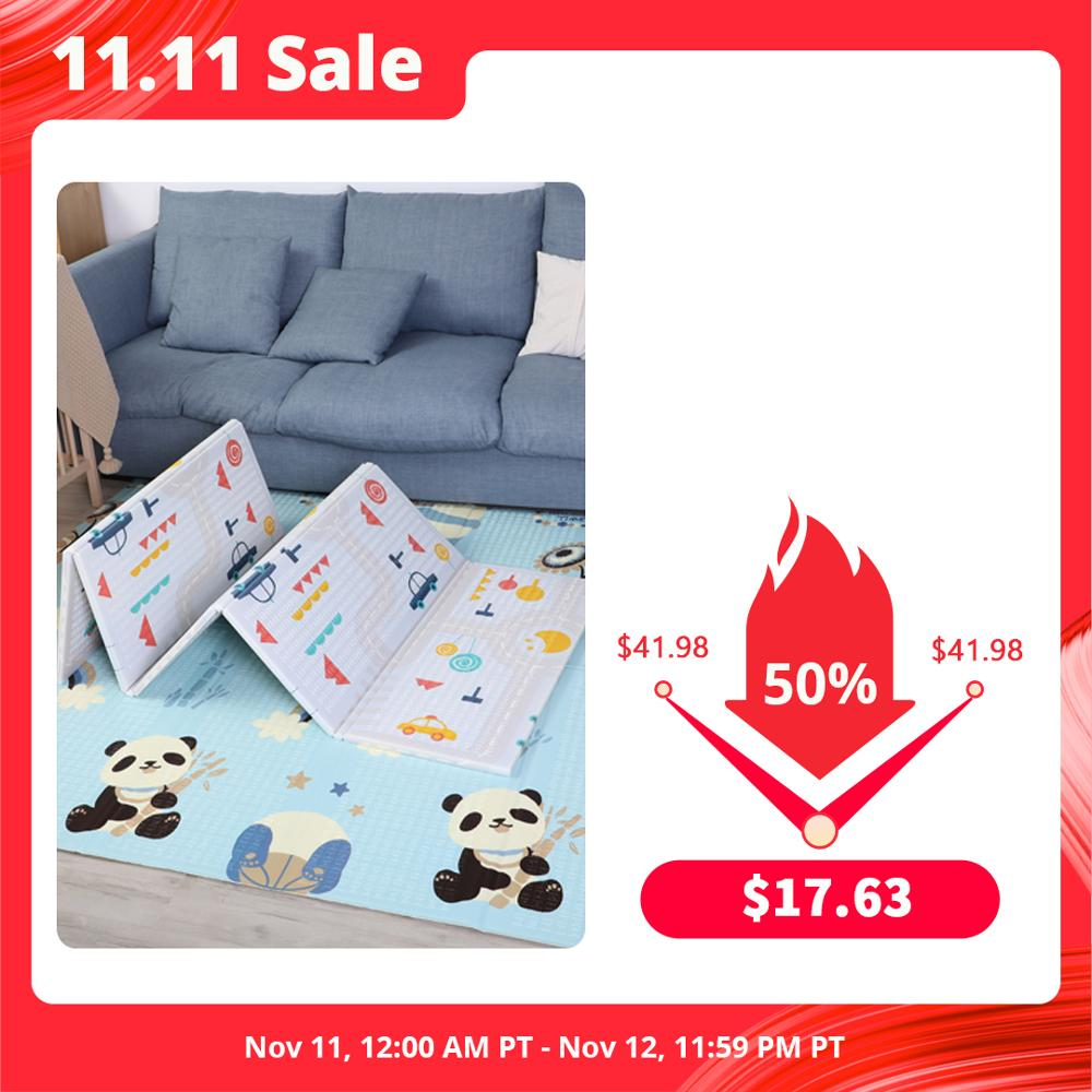 Hipac 200*180cm Baby Play Mat Xpe Foldable With Bag Educational Children's Carpet Kids Rug Activitys Games Toys for Fence Track|Play Mats| - AliExpress