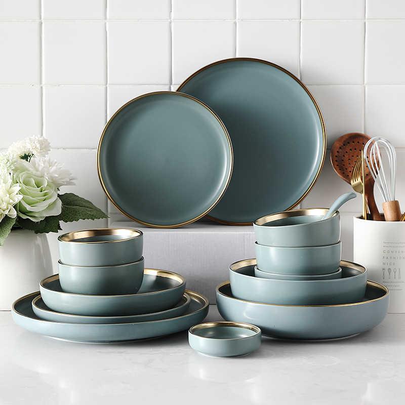 Тарелка керамическая в европейском стиле, набор посуды для приготовления  соуса, риса, супа, тарелка для лапши, стейка, Западная Посуда|Столовые  сервизы| | АлиЭкспресс