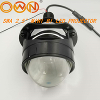 DLAND OWN SWA 2.5 MINI BI LED PROJECTOR LENS KIT, EASY INSTALLATION H1 H7 H4 HB3 HEADLIGHTS 40W BILED WITH LOW BEAM HIGHT BEAM