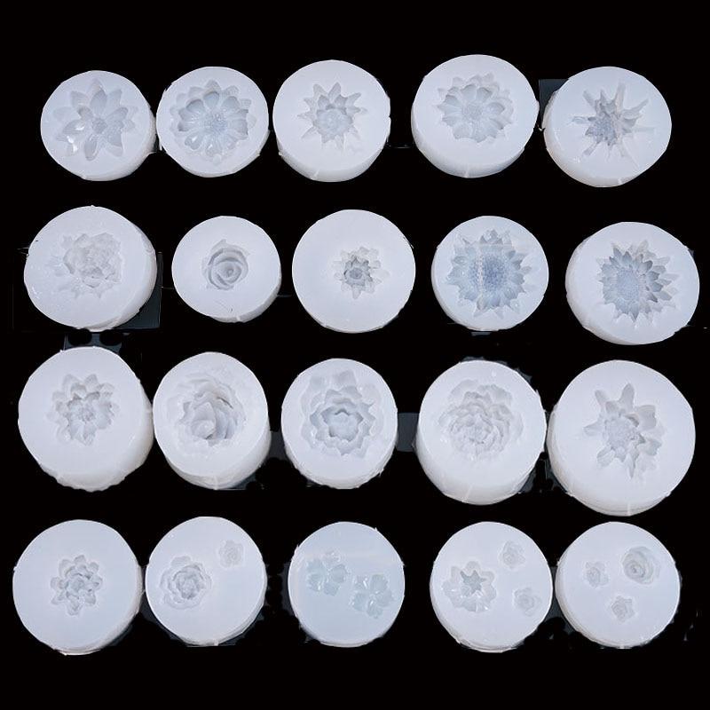 Popular1PC мульти цветок DIY ремесло кулон Expoxy инструменты со шкалой из кристаллов Ювелирные изделия смолы формы для ювелирных изделий
