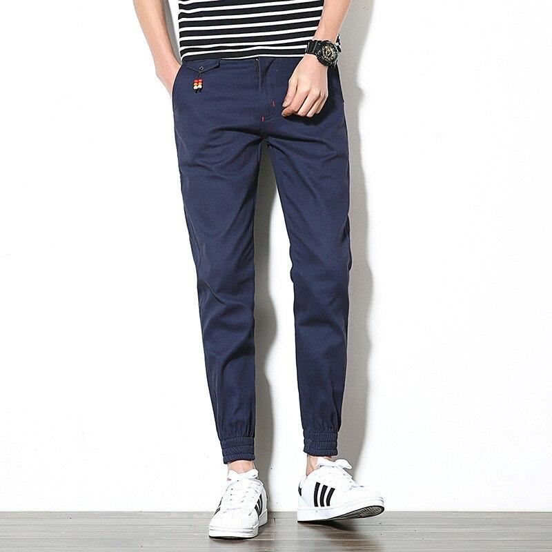 -MEN'S Casual Pants Skinny Harem Pants Capri Men's Trousers Casual Pants MEN'S Ninth Pants Sub-
