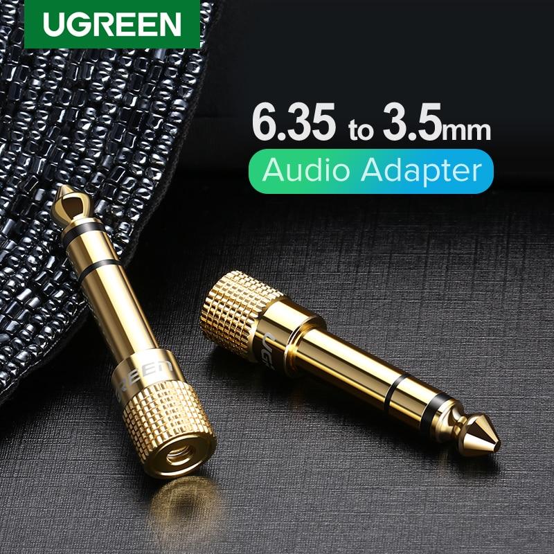 Ugreen Jack 3,5 Динамик разъем 6,35 мм Мужской до 3,5 мм Женский аудио разъем 3,5 Кабель с соединителем для подключения к разъему Aux для Динамик гитарный...