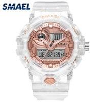2020 SMAEL zegarki damskie i męskie zegarek sportowy zegar para zegarek cyfrowy nadgarstek 8023 wodoodporny erkek saat zegar led prezent