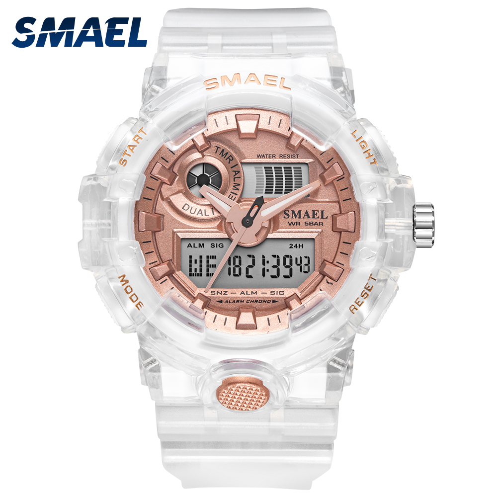 2020 SMAEL Women's And Men's Watches Sport Watch Clock Couple Digital Wrist Watch 8023 Waterproof Erkek Saat LED Clock Gift