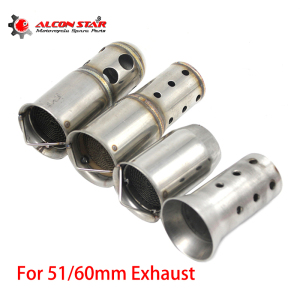 Alconstar Motorcycle Exhaust Pipe Catalyst Muffler Silencer Noise Sound DB Killer For 51mm 60mm AK AR SC GP HP Pipe(China)