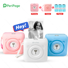 Peripage A6 Portable Bluetooth 4 0 Thermal Photo Printer Wireless Inkless Mini Pocket Printer iOS Android PC Soft Case Fotos cheap GZQIANJI Wired Wireless Thermal printer 58mm CN(Origin) manual 40ppm 100-240V Personal Work Management None Universal ticket printer
