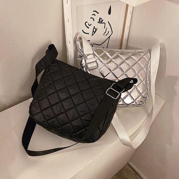 Women Crossbody Bags Silver For Shoulder Slanting Ladies Designer