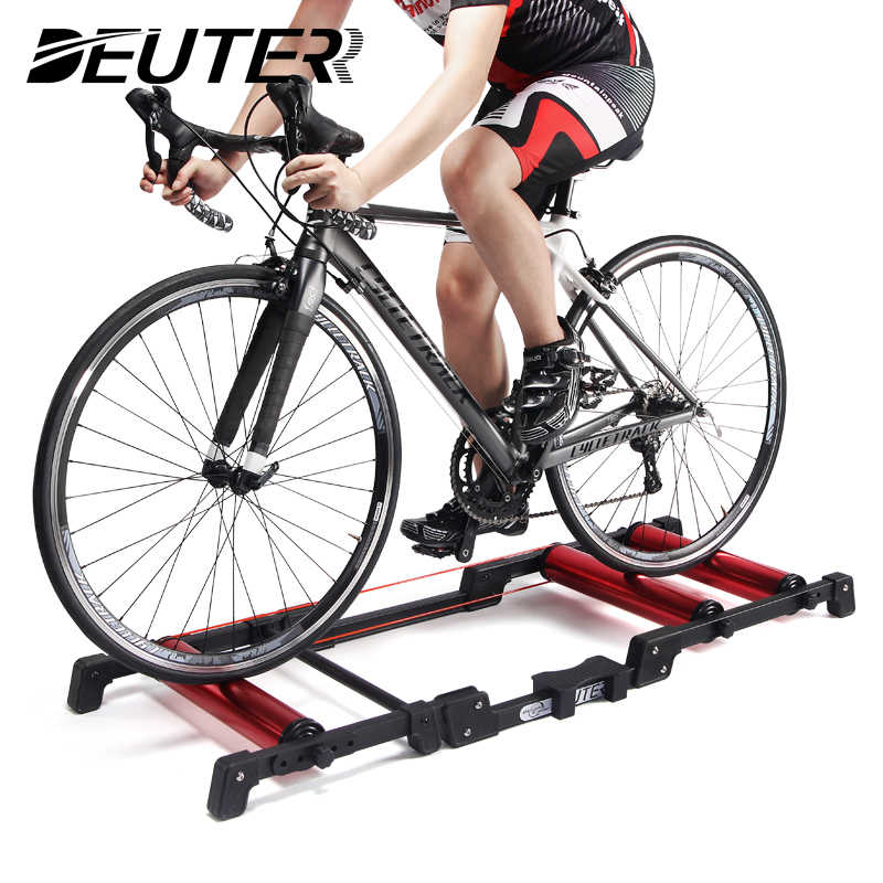 Sepeda Rol Indoor Latihan Sepeda Roller Alat Peraga Trainer Stand Aluminium Alloy MTB ROAD Sepeda Rumah Bersepeda Pelatihan untuk 24-29 MTB