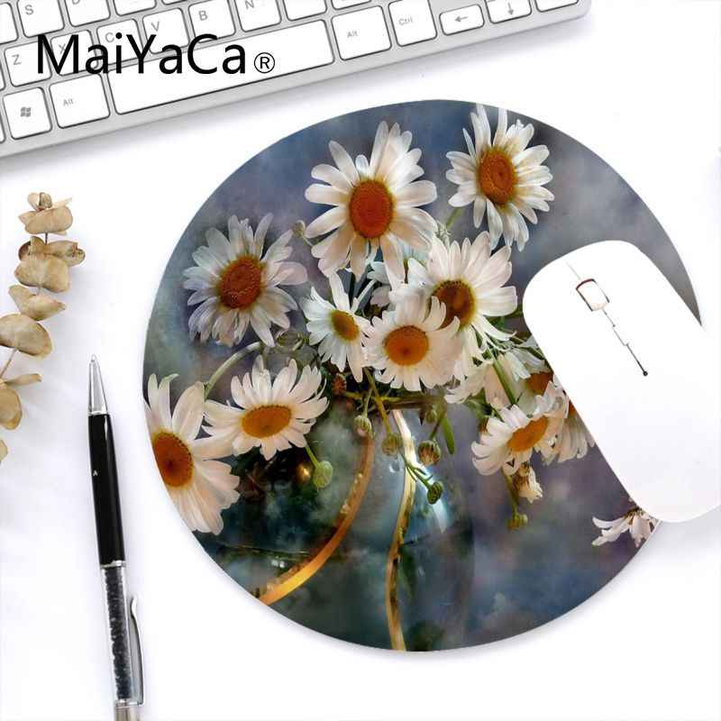 Maiyaca ใน Stocked ดอกไม้สำหรับเล่นเกมคอมพิวเตอร์รอบ Mousemats Anti-SLIP PC แล็ปท็อปเม้าส์ Pad MAT GAMING Mousepad Gaming Mouse pad