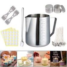 Набор для изготовления свечей «сделай сам», инструменты для изготовления свечей с разливным горшком, оловом для свечей, ложкой, фитилем для ...