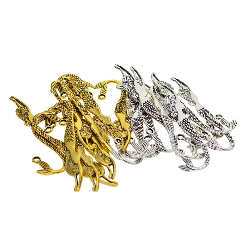 5pcs Tibetan Silver//Gold Label Charms Curved Bookmark Beads Crafts Findings