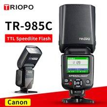 TRIOPO TR-985C цветной lcd e-ttl 1/8000 HSS Master/Slave беспроводной светильник Вспышка Speedlite для Canon