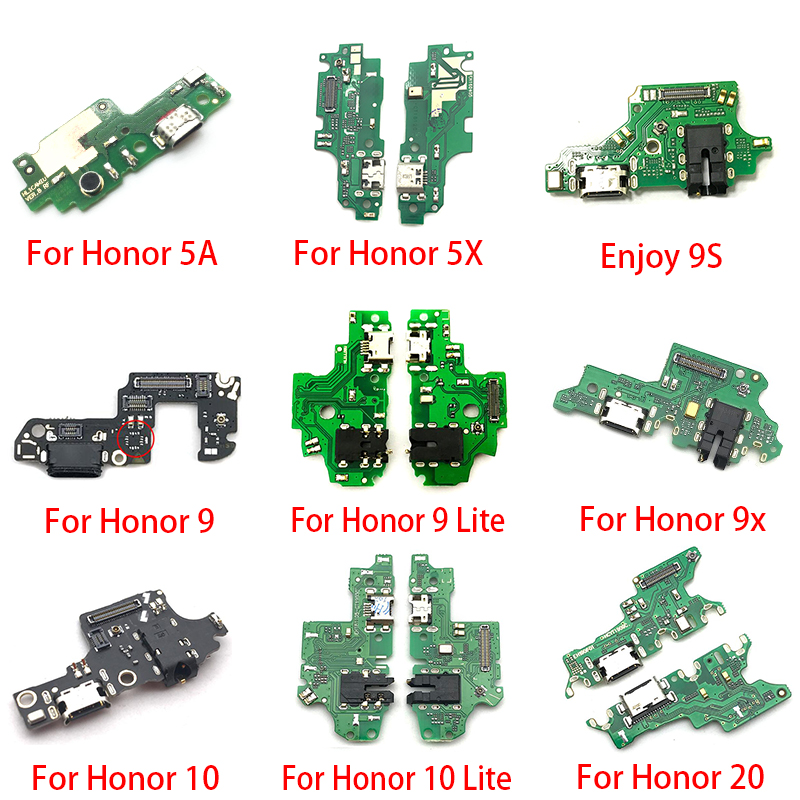USB Charging Port Dock Charger Plug Connector Board Flex Cable For Huawei Honor 20 Pro 5A 5X 10 9X 8X Max Play 8C 8 9 Lite 9S