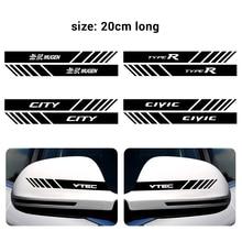 Car 2PCS Rearview Mirror Side Vinyl Graphi Decal Sticker For Honda Mugen CR-V CIVIC Accord 7 Jazz Crosstour Odyssey 2005~2016