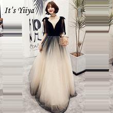 Это yiiya черный торжественное платье с v образным вырезом;