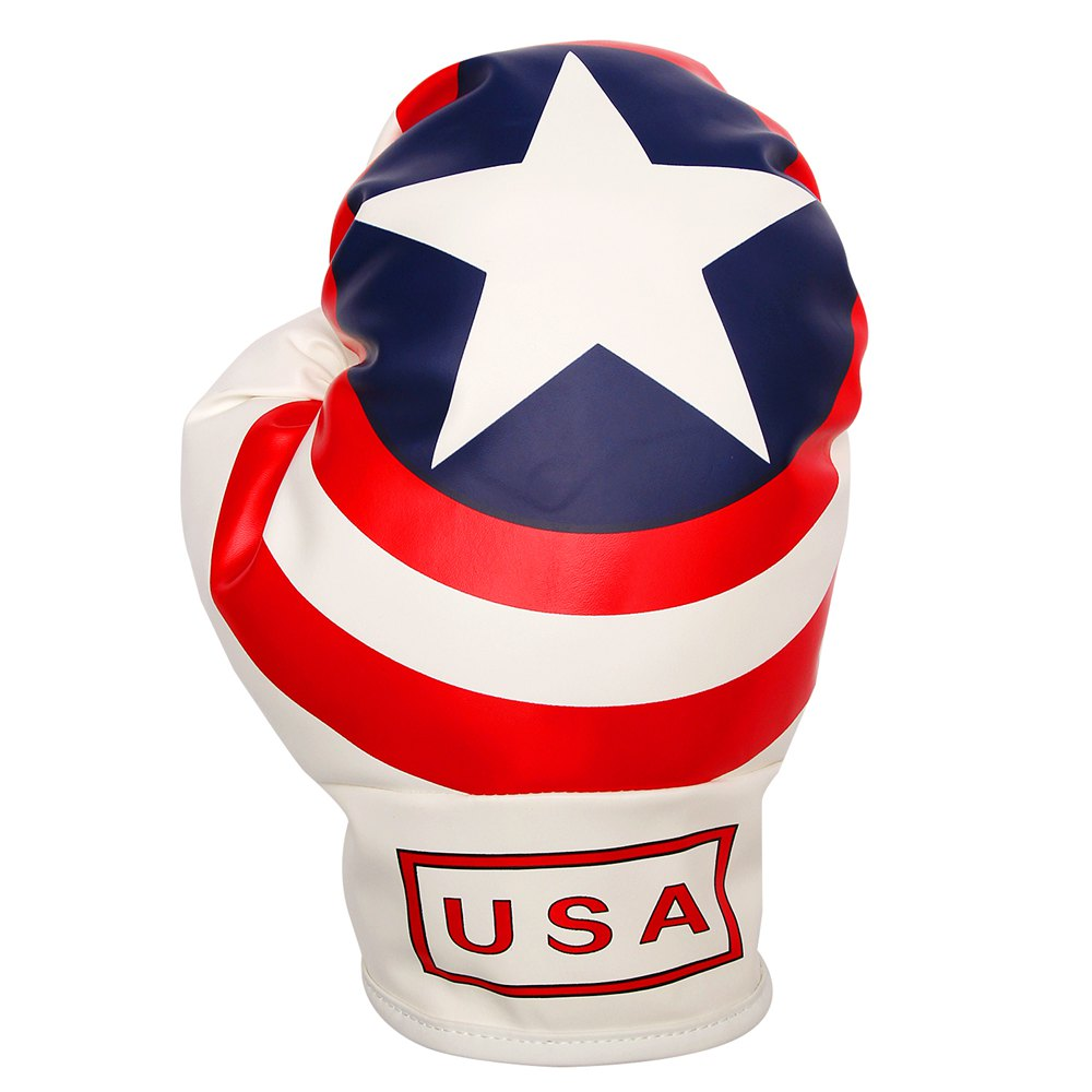 Personality OEM Driver Headcover Golf 440cc 460cc Synthetic Leather USA Flag Stars And Stripes Boxing Glove Head Covers