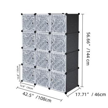 US Warehouse Cube Storage 12 Cube Closet Organizer Storage Shelves Cubes Organizer DIY Closet Cabinet