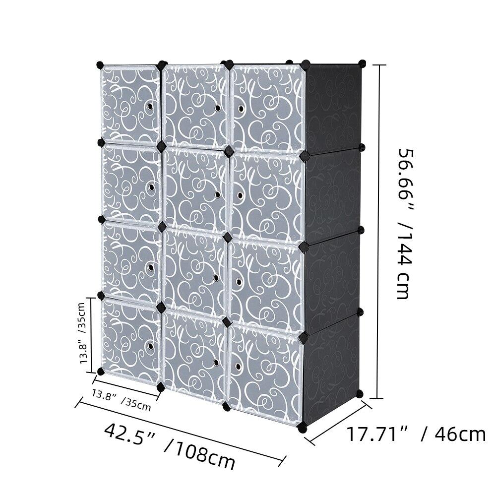 US Warehouse Cube Storage 12 Cube font b Closet b font Organizer Storage Shelves Cubes