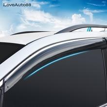 Car Window Visor Door Rain Sun Shield Side Windows Cover Trim Auto Accessories 4Pcs For Subaru XV 2018 Car Styling 4pcs blade side windows deflectors door sun visor shield for ford ecosport 2013 page 8