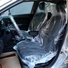 100 Pcs Universele Auto Wegwerp Pe Plastic Soft Seat Cover Waterdichte Auto Reparatie Beschermhoes
