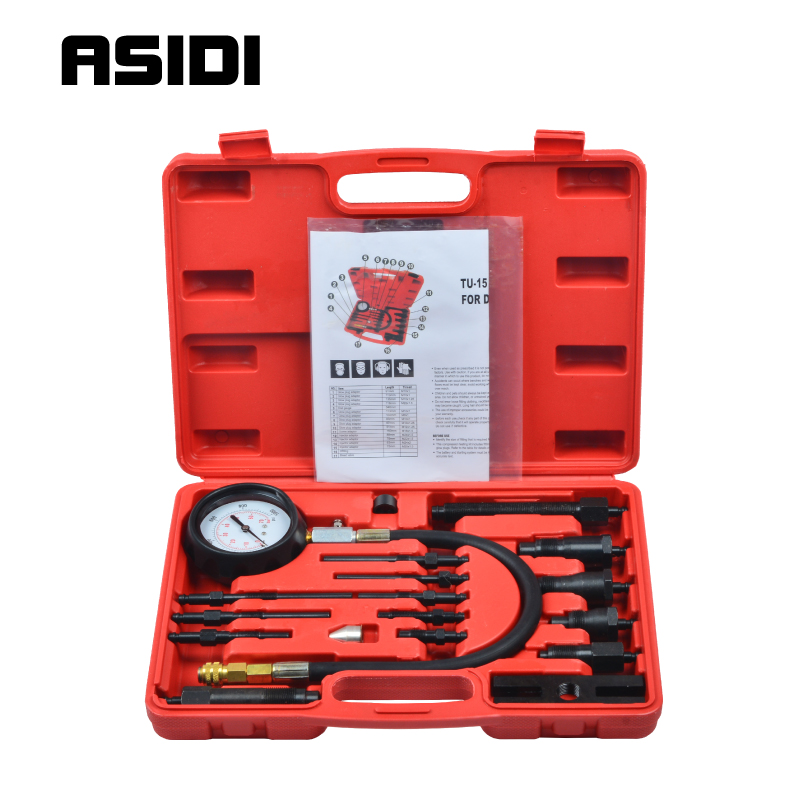 Diesel Engine Cylinder Compression Tester Professional Kit Direct Indirect Truck Auto Tools|truck cabin|truck modeler|truck cable - title=