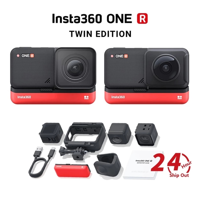 Insta360 ONE R Twin Edition new sports Action Camera 5.7K 360 4K wide angle waterproof video camera