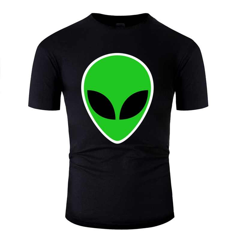 カスタマイズされたグラフィックエイリアングリーンヘッド男性 Tシャツ女性ブラック Tシャツメンズ服サイズ Xxxl 4xl 5xl Tシャツトップ