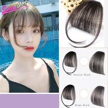 Salonchat Remy, черные, коричневые накладные человеческие волосы на заколках для наращивания, черные женские человеческие волосы, челка на заколках, человеческие волосы