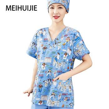 scrubs nursing Workwear women scrubs Laboratory uniform scrub uniform High temperature sterilizable clothing
