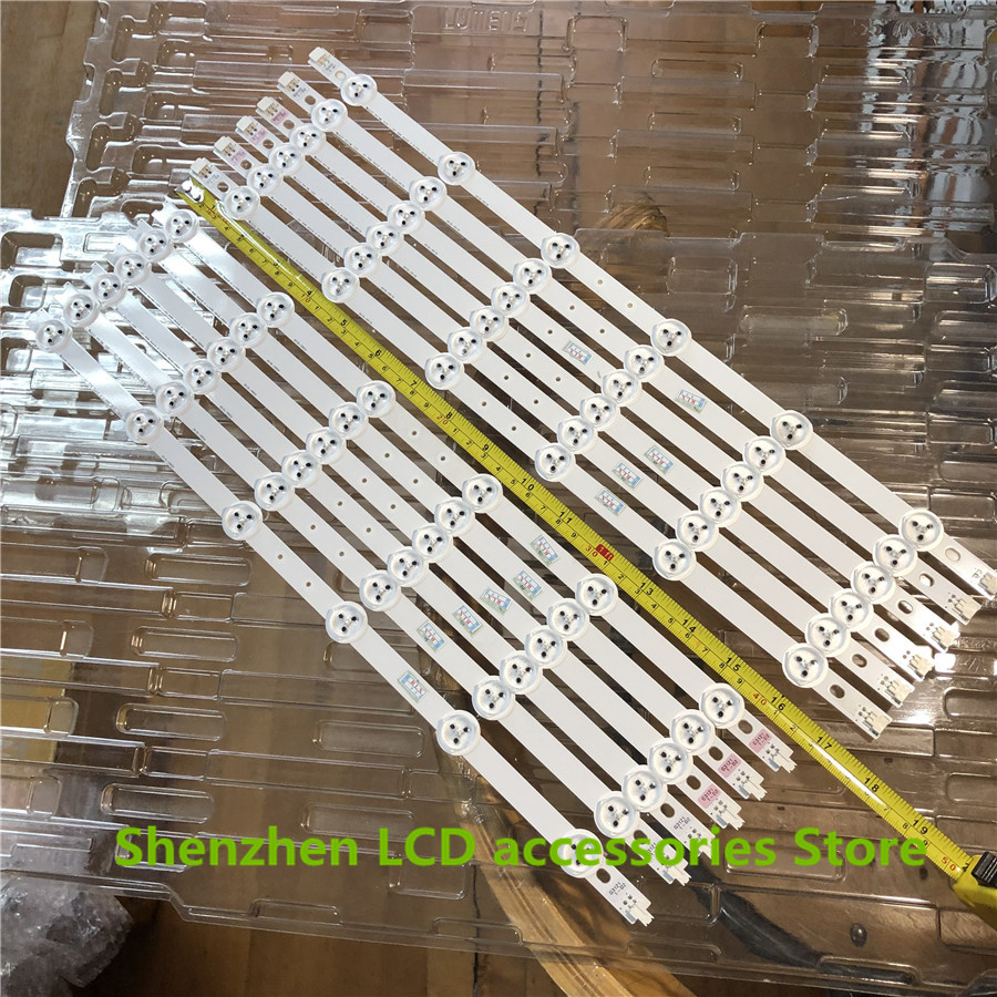 12PCS 874mm LED Backlight Lamp Strip 12leds For LG TCL L42F1300-3D 6916L-0882A 6916L-0913A LC420DUN SE 42 Inch LCD Monitor NEW
