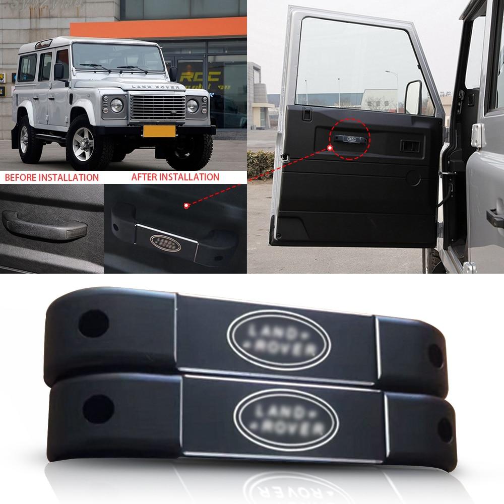 For Land Rover Defender 2 Door Inner Door Handle Grab Handle Trim 2pcs 2004-2016