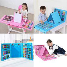 176PCS Colored Pencil Artist Kit Set Painting Crayon Marker Pen Brush Drawing Tools Set Kindergarten Supplies hot sale for gift